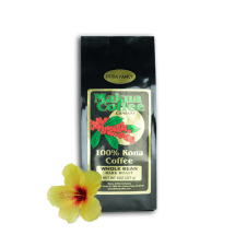 Makua Coffee Company 100% Kona Coffee Extra Fancy Dark Roast Coffee Whole Beans 8 oz bag