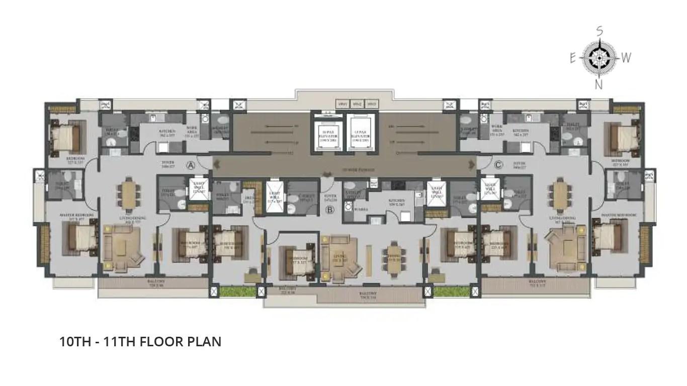 10th 11th Floor plan