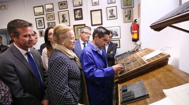 La antigua imprenta de los poetas del 27 revive con un soneto de Alcántara