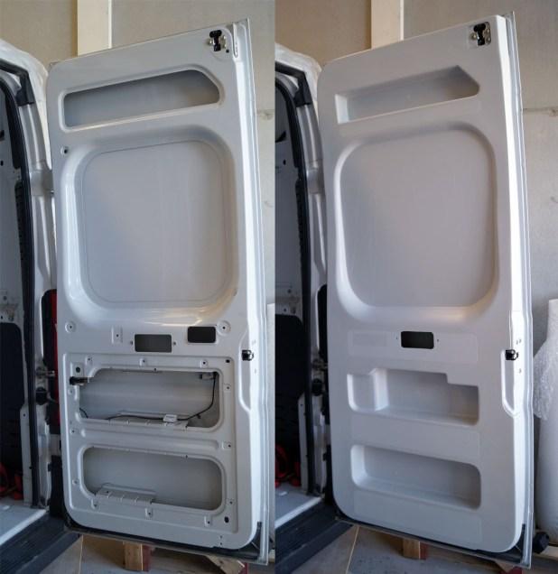 Paneles interiores puertas furgoneta Fiat