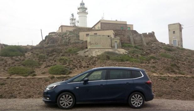 Faro del Cabo de Gata en la costa de Almería.