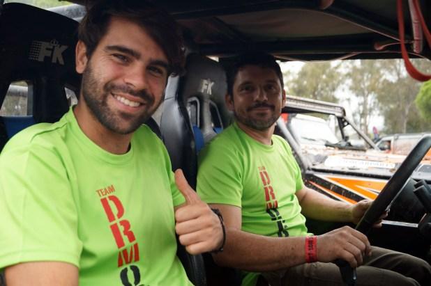 Luis Morillo y Daniel Rodríguez antes de empezar la prueba.