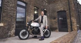 Moto Guzzi toma el protagonismo en Londres de la mano del diseñador y piloto Tom Dixon