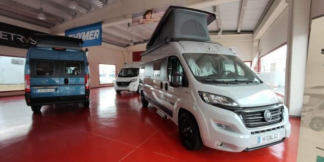 Nuevo Camper Hymer Free en las instalaciones de Autocaravanas Hidalgo.