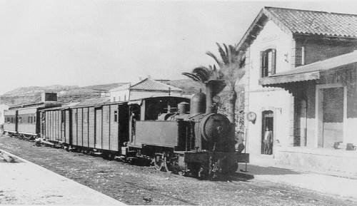 Old train in Malaga