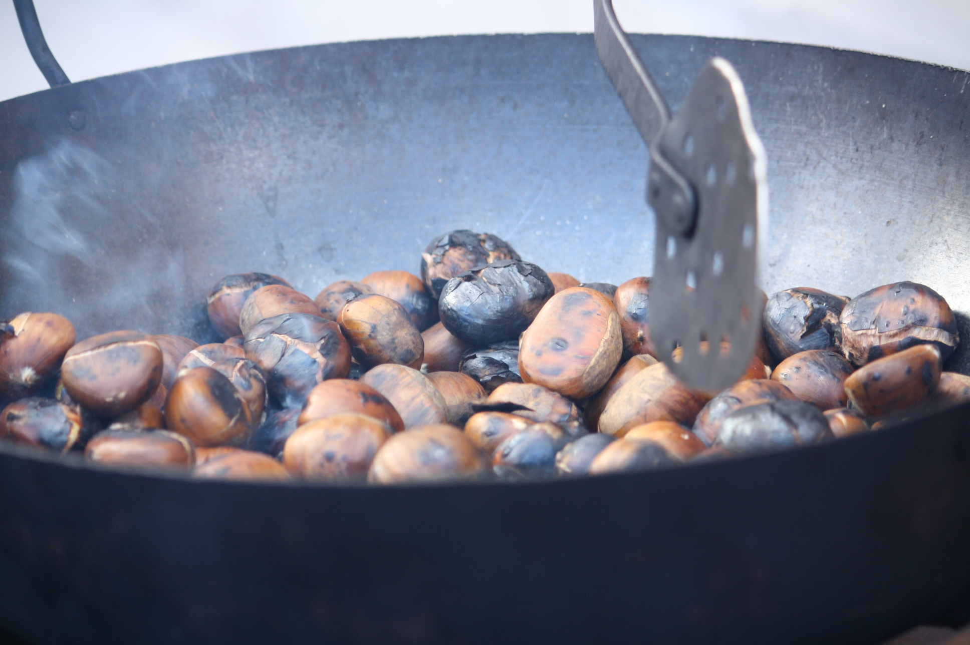 roasted chestnuts in Malaga