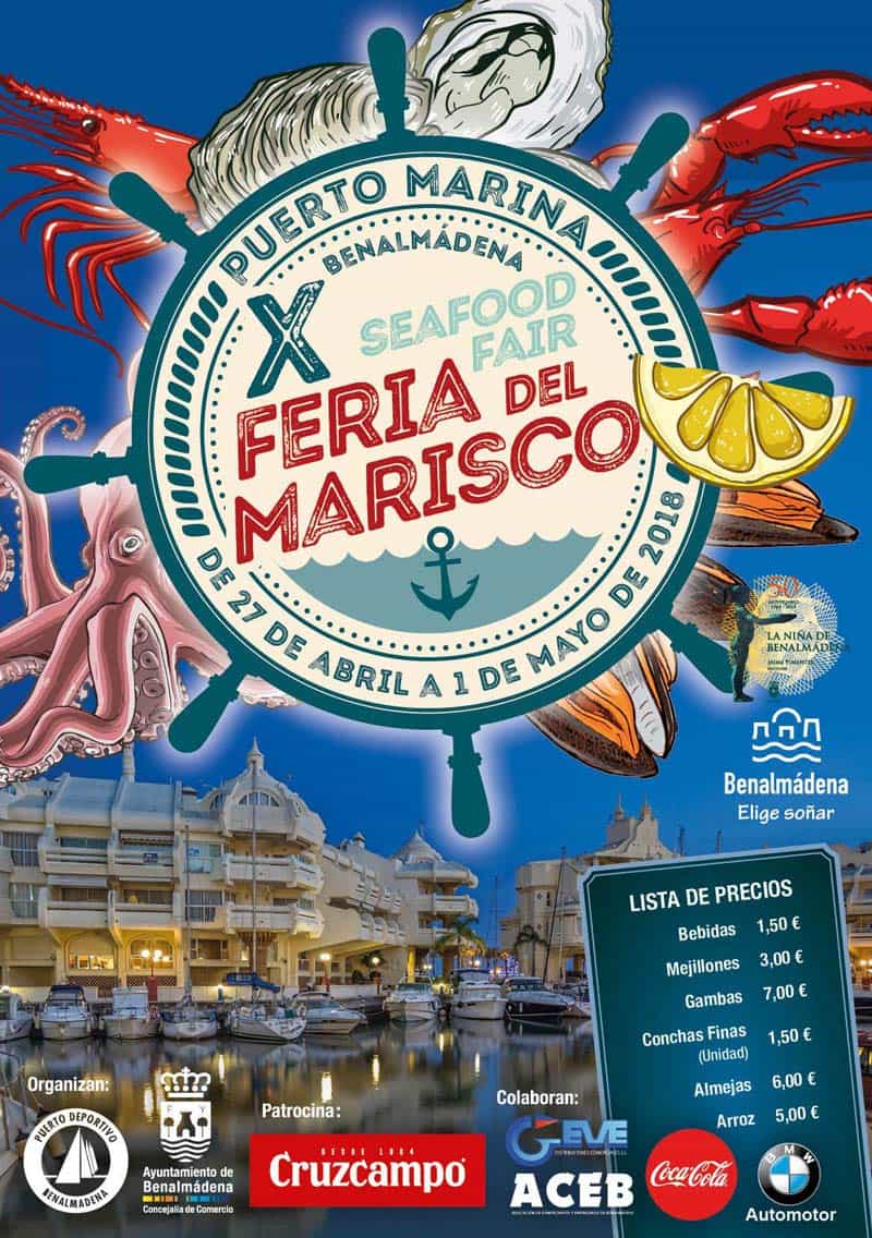Seafood Fair in Puerto Marina Benalmadena from  27th of April to 1st of May