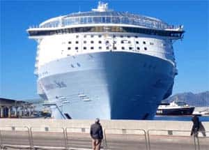 Symphony of the Seas cruise at Malaga port