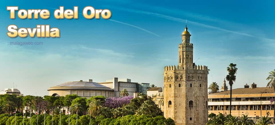 Torre del Oro monument in Seville during April or May