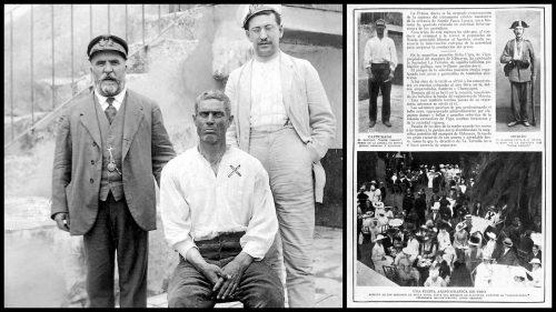 Pasos Largos im Gefängnis im Jahre 1916