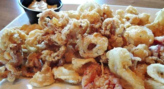Fried calamari in Fuengirola
