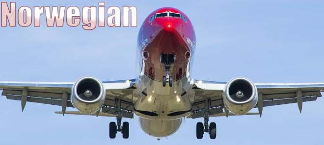 Flights with Norwegian airline in 2019