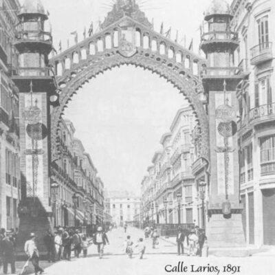 Die Calle Larios im Jahr 1891