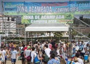 zona de acampada del festival