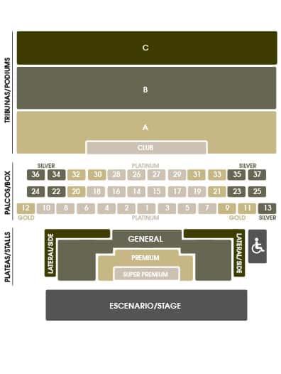 Mapa entradas Starlite