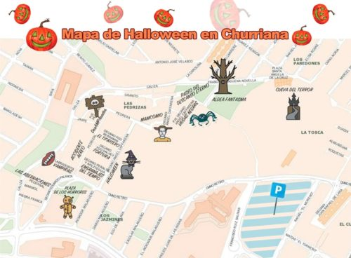 Mapa Halloween en Churriana