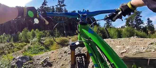 Mountain Bike Bergabfahrt