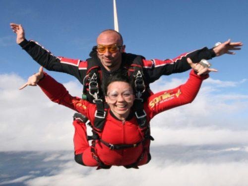 salto en paracaídas en Málaga