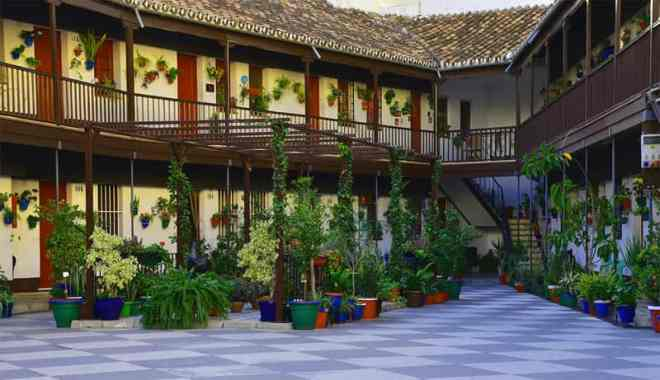 Traditional corralon courtyard