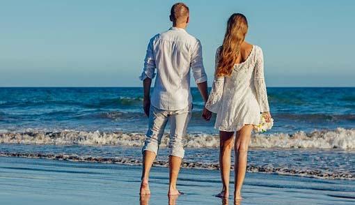 San Valentín en la playa