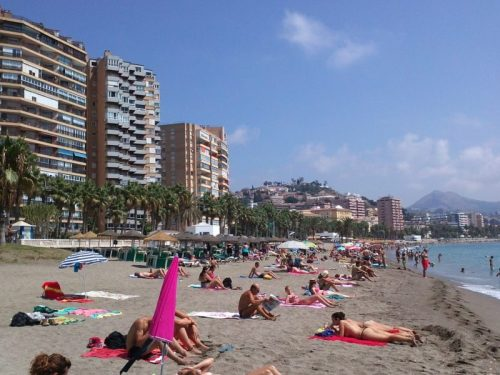 verano en la playa de Malaga