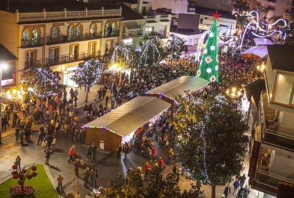 alumbrado de navidad y mercadillos en Torremolinos