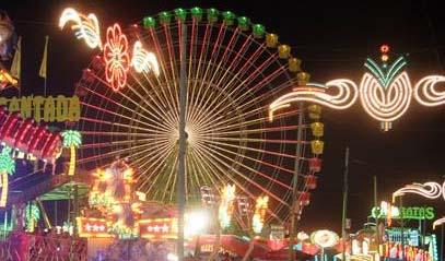 Feria de Málaga en agosto