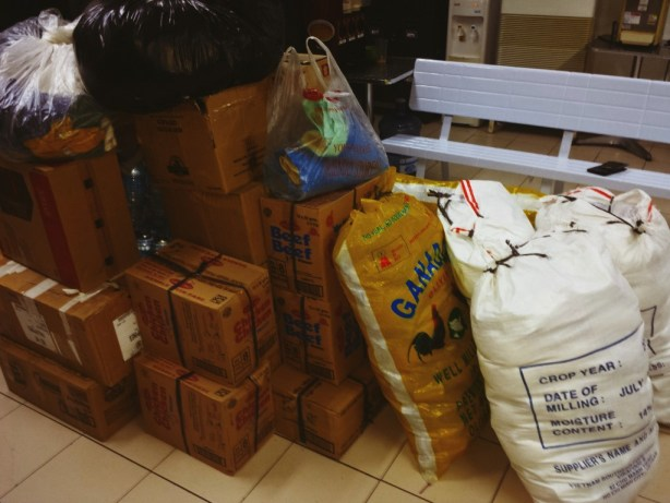 repacked goods for bohol earthquake relief drive.