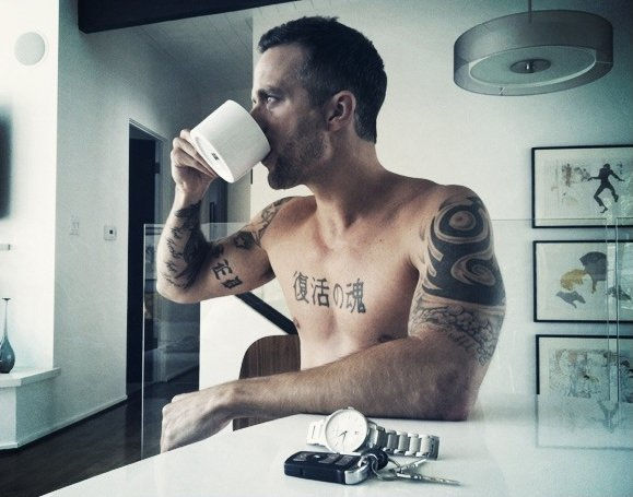 Malan Darras drinking coffee and plotting to take over the world.