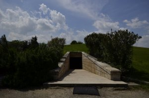 Entrance to the burial mound of the Macedonian Kings