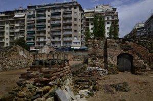 Salonika Apartment blocks over Hippodrome