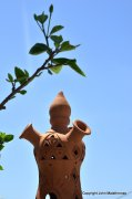 Three-exit chimney pot