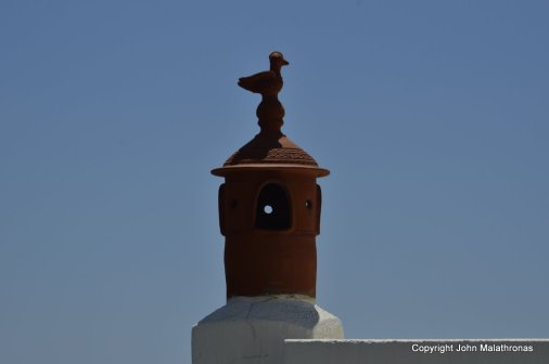 Sifnos chimney pot with four exits