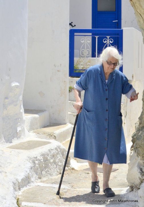 One of the oldest denizens of Chora, Serifos