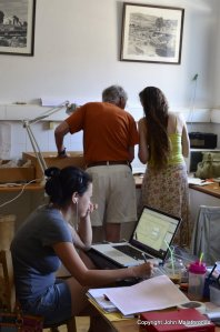 Archaeologists in Ioulida, Kea