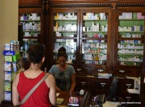 Poppi Delaroka in her pharmacy Naxos