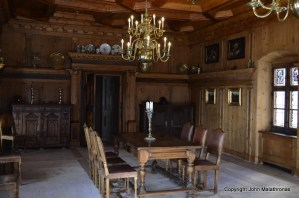 Switzerland Tarasp castle dining room