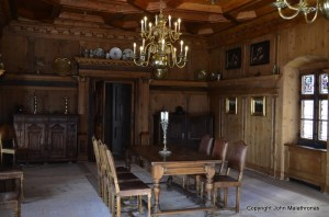 Tarasp castle dining room
