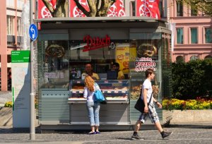 A food stall in Mainz Germany