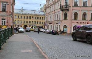 Raskolnikoff's walk to kill the old lady moneylender - on the Kokushkin Bridge