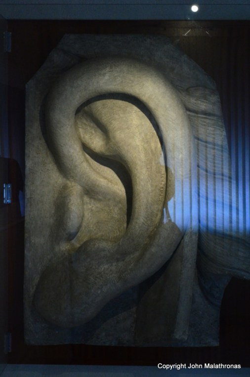 A discarded ear from the Statue of Liberty
