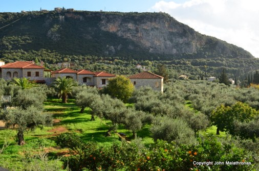 View from Bruce Chatrwin's room in Kalamitsi Hotel, Kardamyli