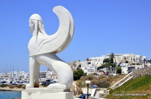 Sphinx in Naxos Town