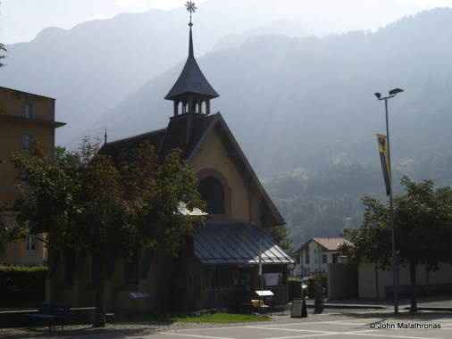 The English Church in Meiringen, now the Sherlock Holmes museum