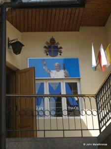 The outside staircase of the family flat of Pope John Paul II