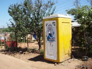 Elias Motsoaledi squatter camp toilet