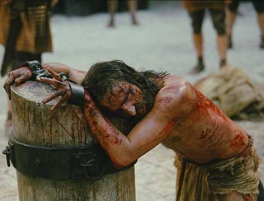 Jesus' back