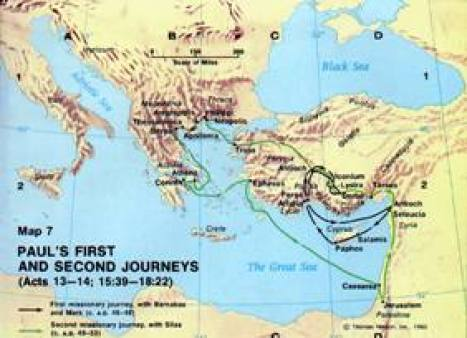 Paul's First and Second Missionary Journeys