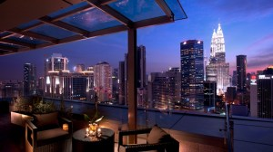 Unwind in the Terrace Suite with a private balcony overlooking panoramic views of the city skyline and a spectacular view of the Petronas Twin Towers.