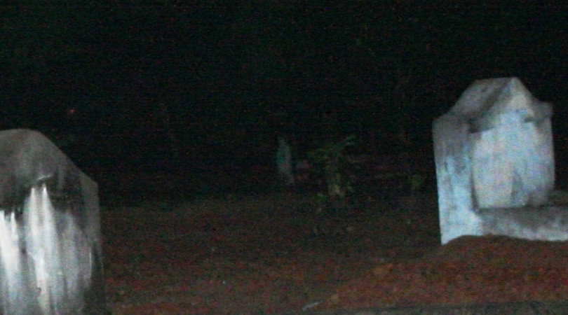 Cemetery ghost - Full Body Manifestation of a Ghost at a Cemetery.